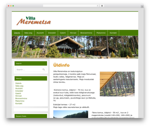 WordPress theme Smartline - meremetsa.ee