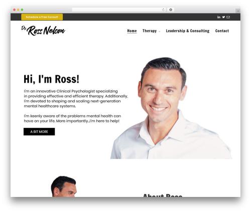 Best WordPress template Revolution - drrossnelson.com