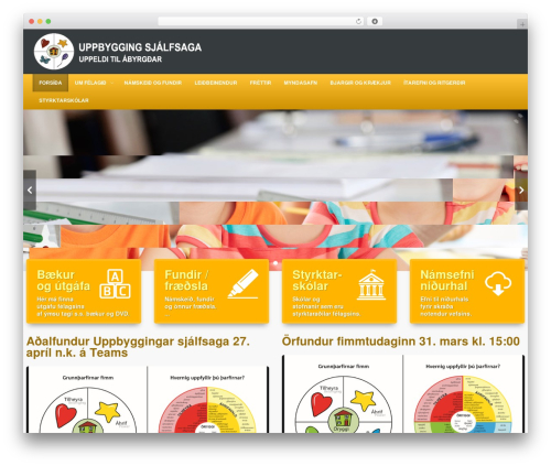Edu top WordPress theme - uppbygging.is