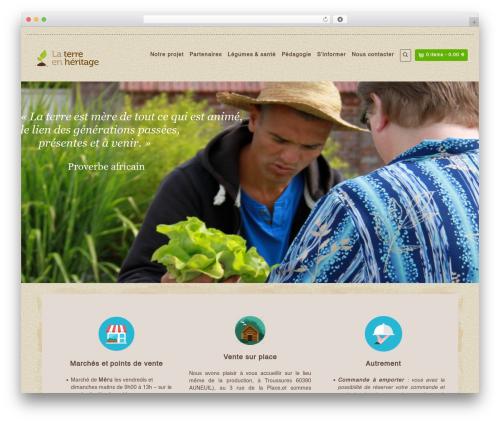 Organic Web Shop WordPress shopping theme - terreheritage.fr