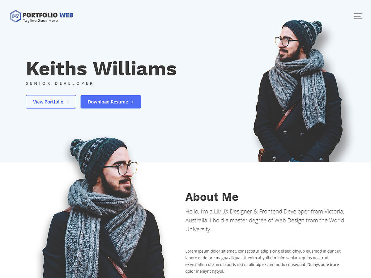 Portfolio Web best portfolio WordPress theme