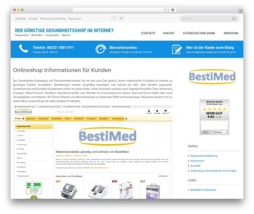 Sanitorium WordPress ecommerce template - aviamed.de