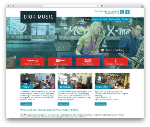 Smart Theme theme WordPress - diormusic.com.au