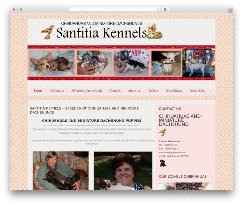Hannari WordPress theme - santitiakennels.co.za