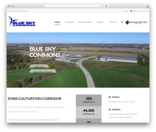 opalhomes WordPress template for business - blueskycommons.com