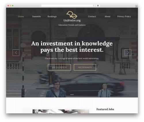 UNISCO WordPress theme free download - unifreire.org