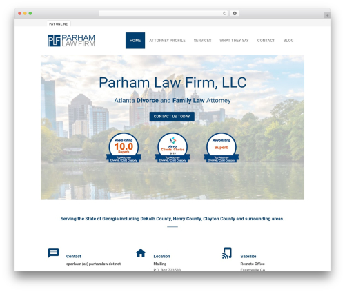 Benchmark WordPress page template - parhamlaw.net