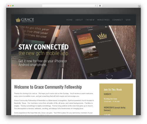 Lava WordPress theme - gcfneedville.org