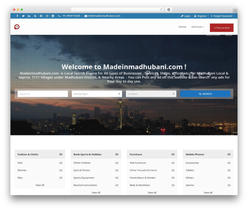 Pointfinder WordPress theme - madeinmadhubani.com