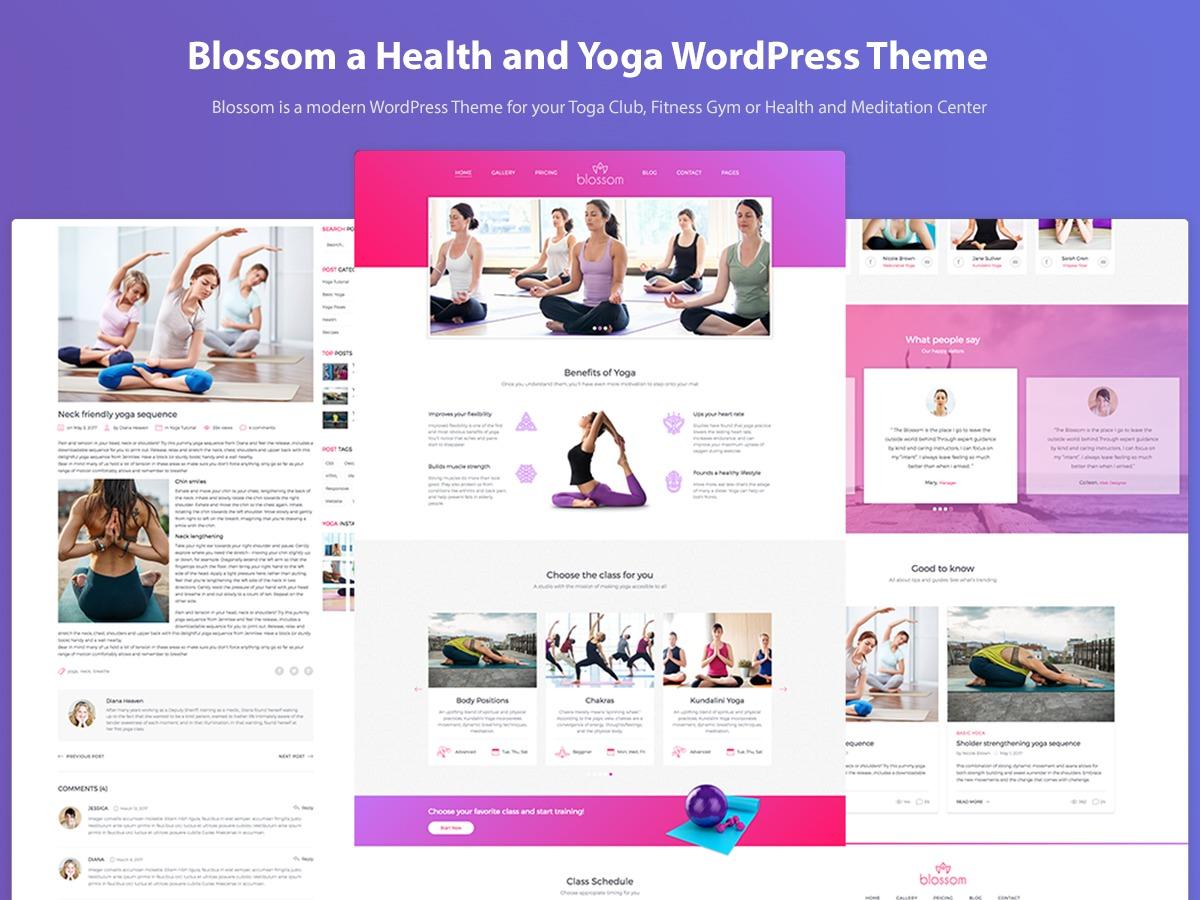 BlossomClub WordPress theme