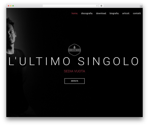 MUZIQ Jellythemes WordPress theme design - dariodemarcomusic.com