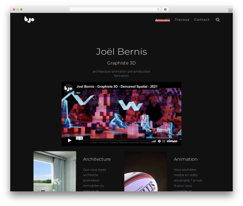 SohoPRO WordPress theme design - bjobernis.fr