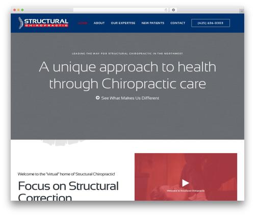 Uncode template WordPress - structuralchiro.com