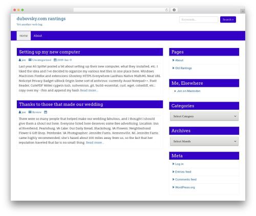 Business Blue premium WordPress theme - dubovsky.com