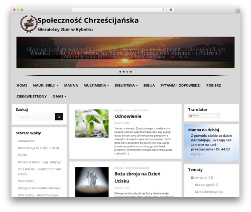 Donna free WP theme - zbor.rybnik.pl