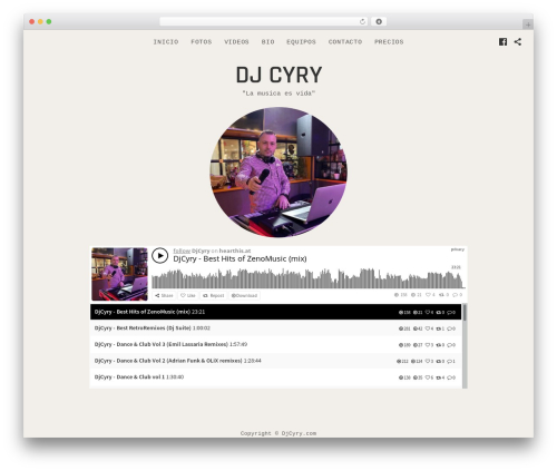 Encore theme WordPress - djcyry.com