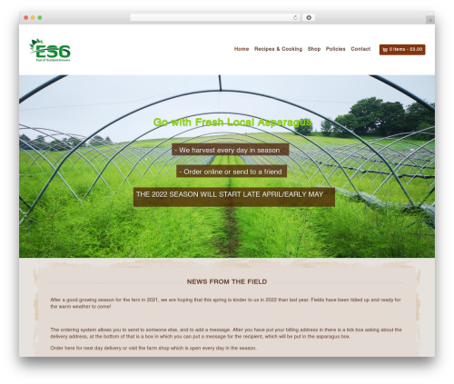 Organic Web Shop best WooCommerce theme - asparagusbypost.co.uk