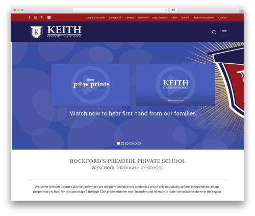 Salient best WordPress template - keithschool.com
