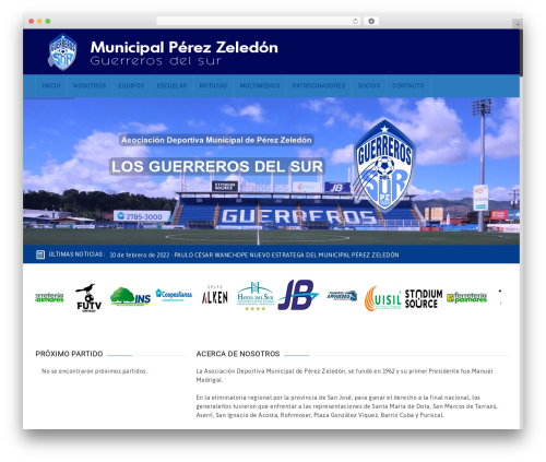 WordPress theme GoalKlub - municipalpz.net