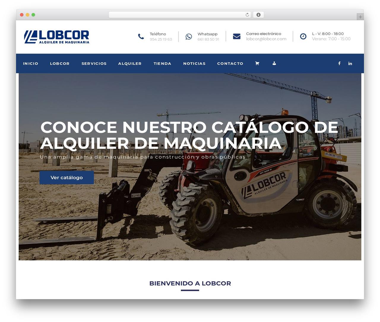 WP theme Cargo Pifour - lobcor.com