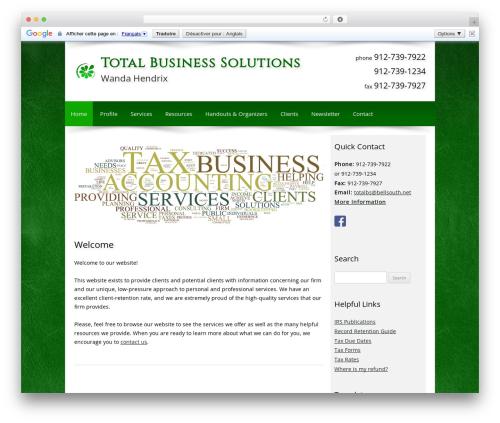Customized theme WordPress - totalbs.tax