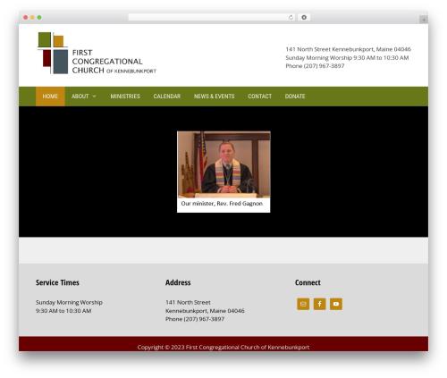 Template WordPress GeneratePress - firstchurchkport.org
