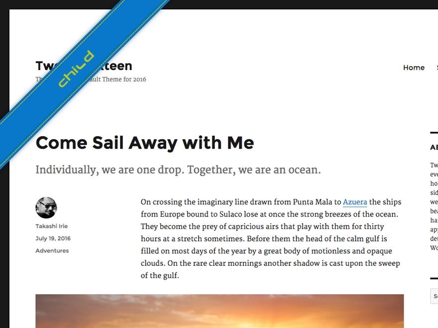 WordPress theme twenty-sixteen-child