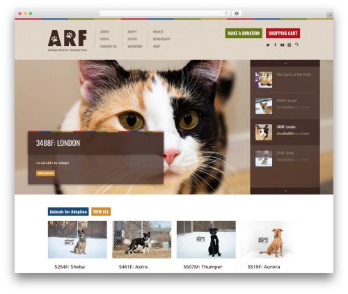 Biosphere theme WordPress - arf.ab.ca