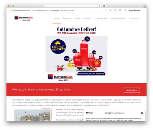 California best WordPress template - ramcogas.com