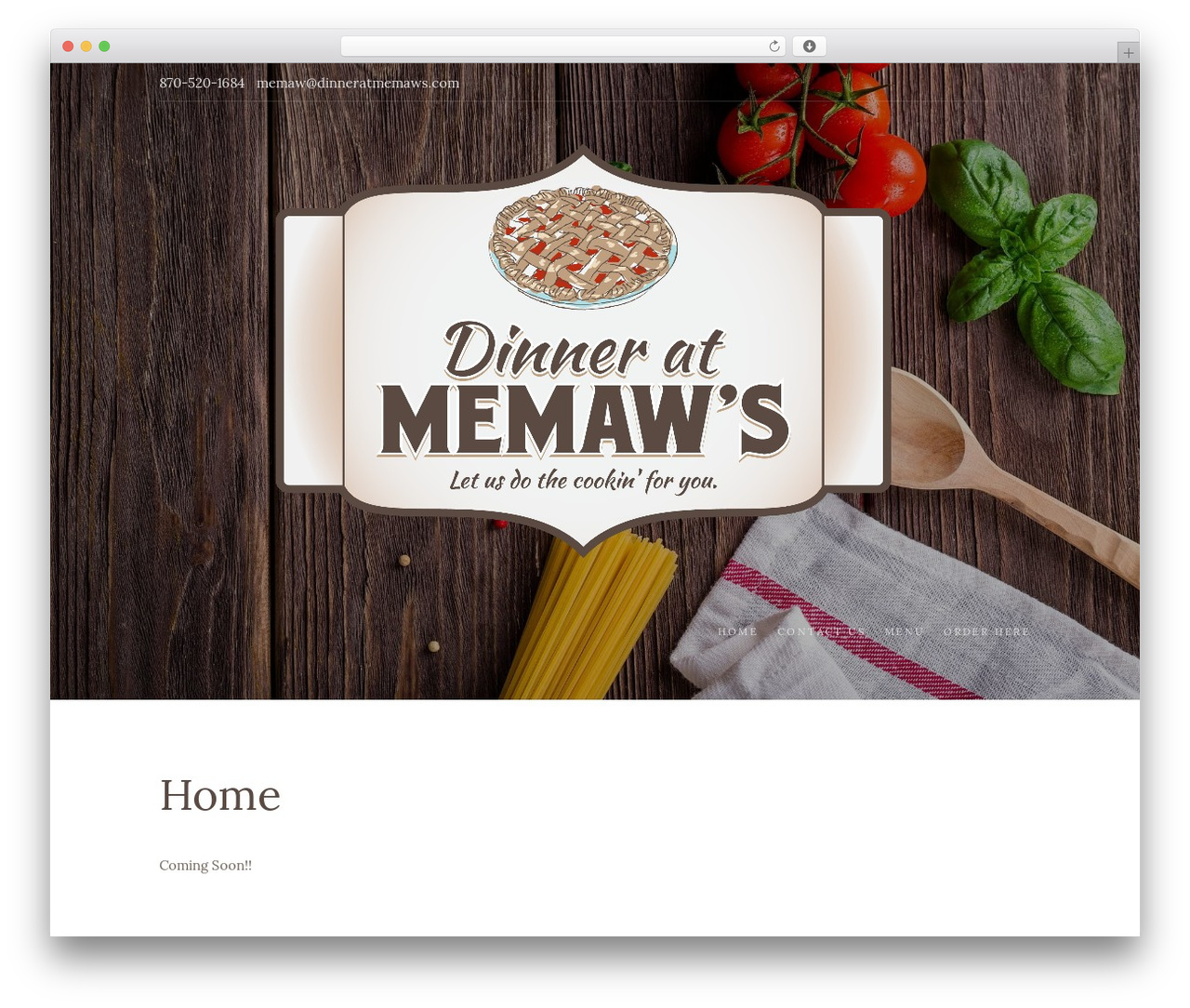 Food Express WordPress template free download - dinneratmemaws.com
