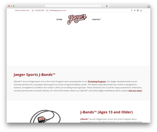 Jupiter theme WordPress - jaegerbaseball.com
