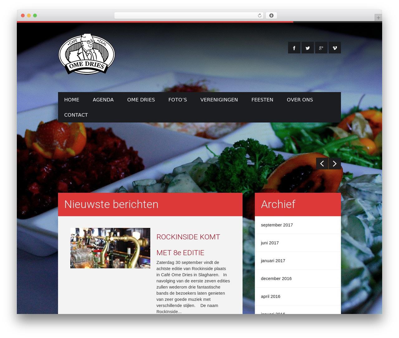Ome Dries theme WordPress - omedries.nl