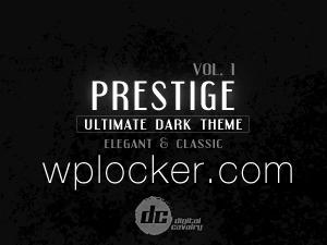 Prestige Dark vol.1 WordPress template for business