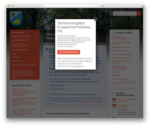 TownPress WordPress theme - amt-ruhland.de