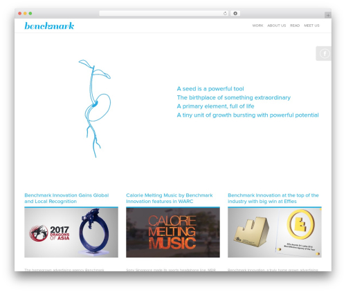 WordPress website template Benchmark - benchmarkinnovation.com