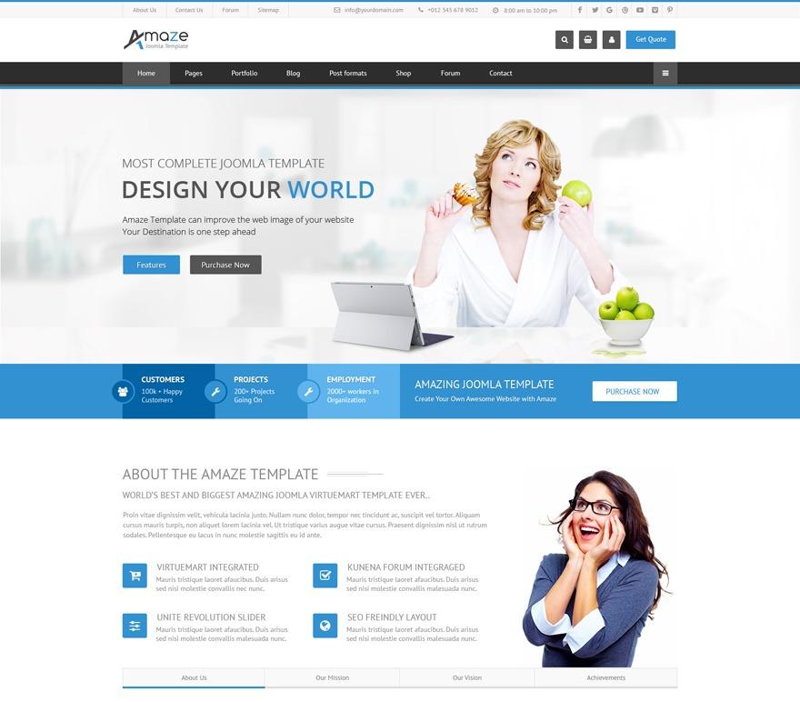 Amaze Child WordPress page template