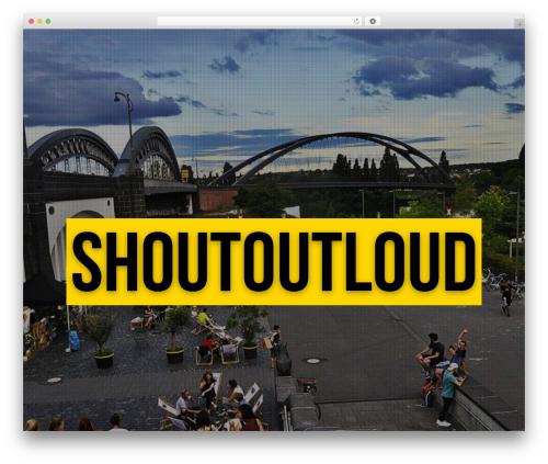 Jarvis 3.9 theme WordPress - shoutoutloud.eu