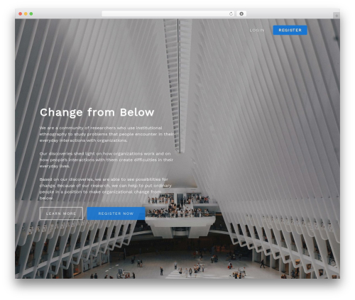 Salient WP theme - changefrombelow.org