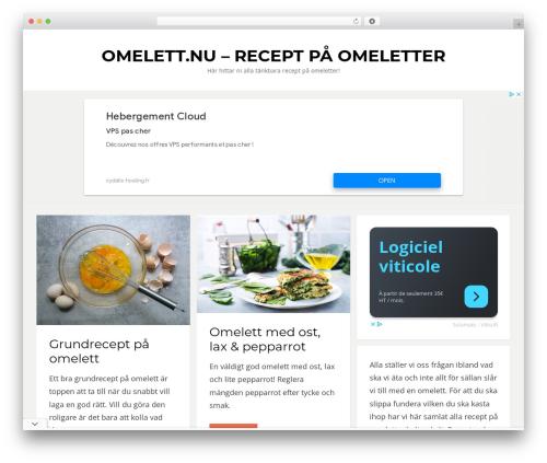 Bezel free WP theme - omelett.nu