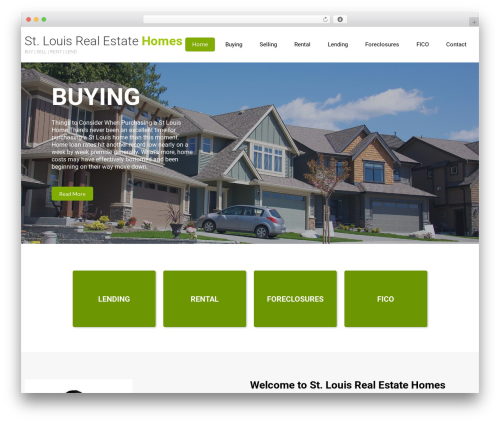 Eco Friendly Lite real estate WordPress theme - stlouisrealestatehomes.com
