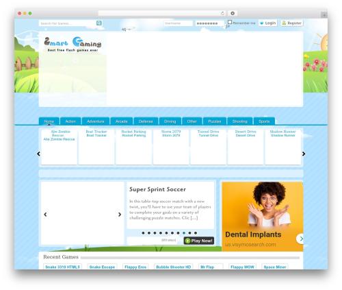 Game WordPress gaming theme - smartgaming.org