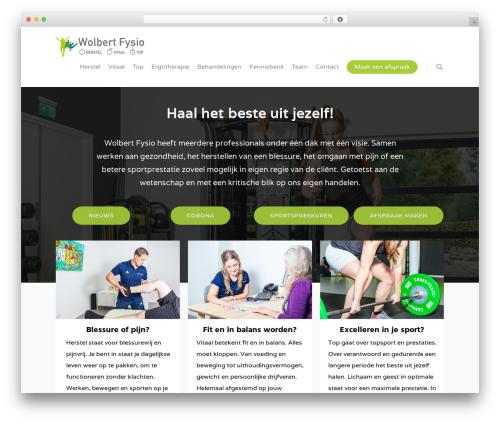 Salient best WordPress template - wolbert-fysio.nl