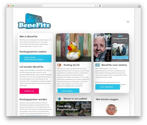 Salient premium WordPress theme - bene-fits.nl