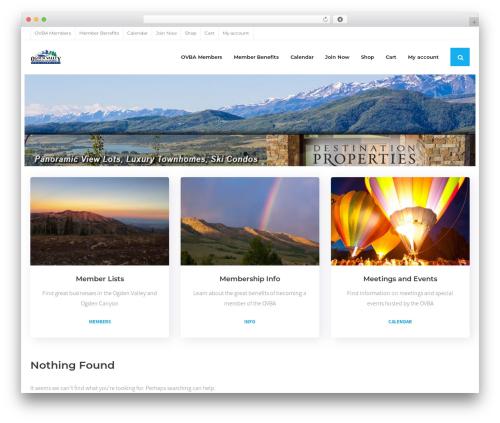 Shuttle Pro business WordPress theme - ovba.org