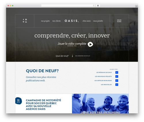 Theme WordPress Oasis - oasiscommunication.ca
