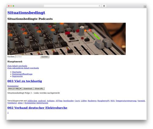 Twenty Eleven theme WordPress free - situationsbedingt.de