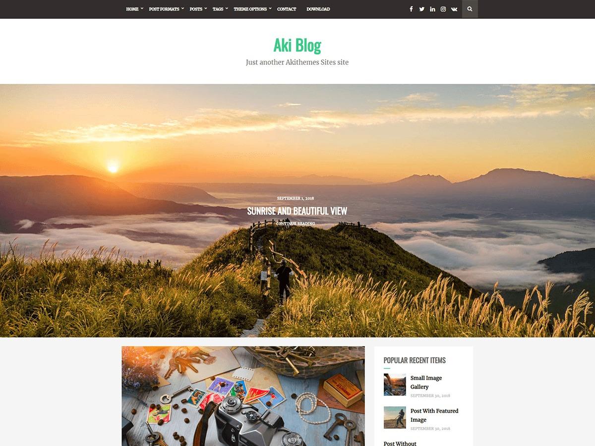 Aki Blog WordPress blog template