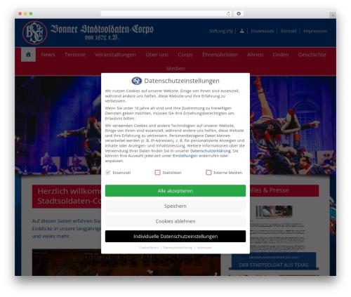 Dynamik-Gen WordPress website template - bstc.de