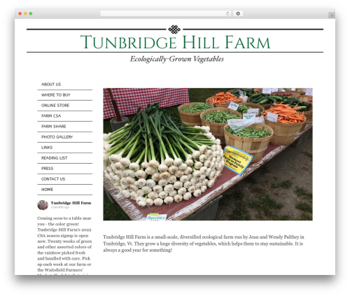 GeneratePress free WordPress theme - tunbridgehillfarm.com