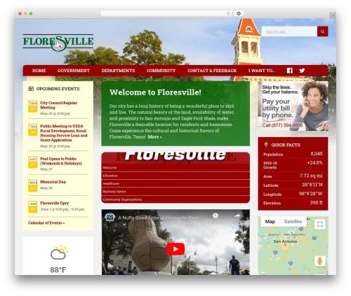 TownPress WordPress news template - floresvilletx.gov